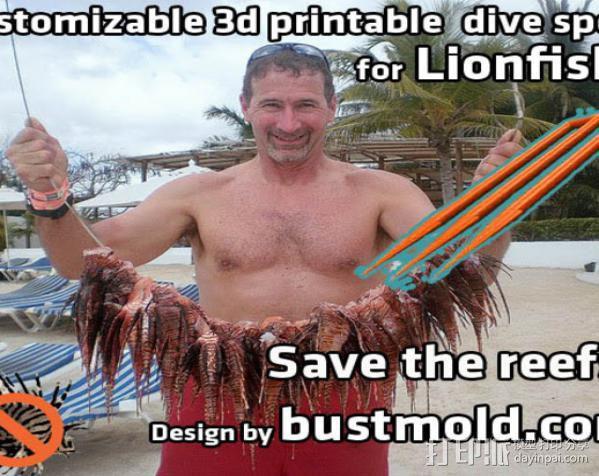 捕获狮子鱼的长矛 3D模型  图3