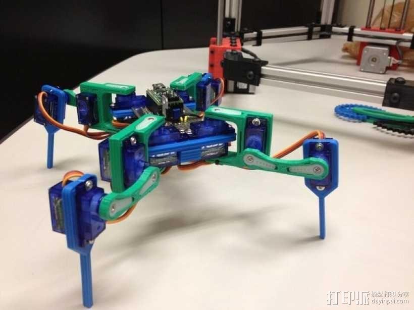 迷你四足机器人 3D模型  图1