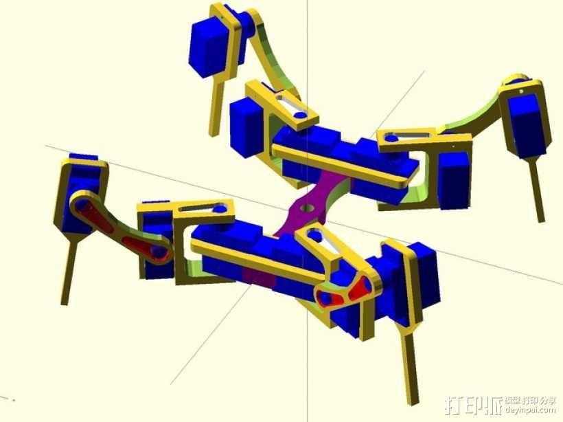 迷你四足机器人 3D模型  图2