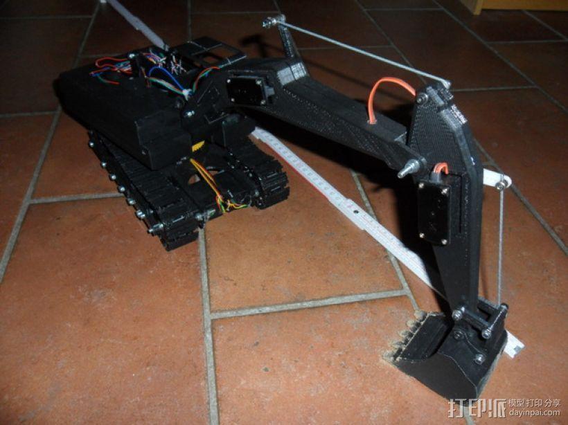 挖掘机 3D模型  图1