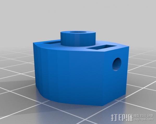 四轴飞行器支柱保护装置 3D模型  图1