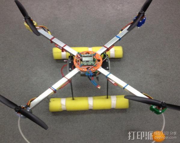 四轴飞行器支柱保护装置 3D模型  图3