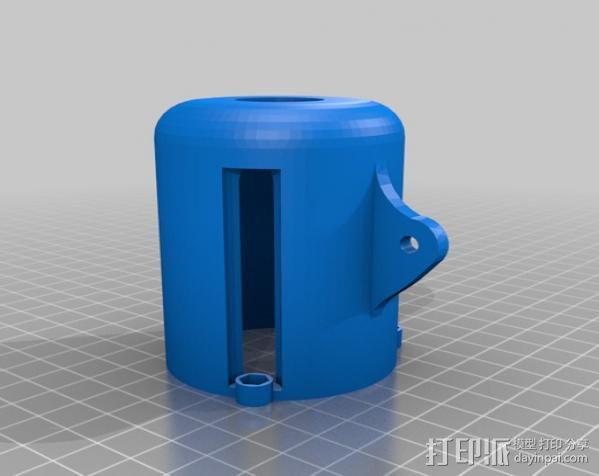 LED聚光灯 支架 3D模型  图1