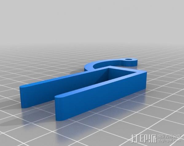 LED聚光灯 支架 3D模型  图3