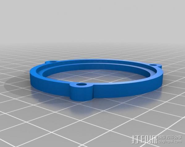 LED聚光灯 支架 3D模型  图2