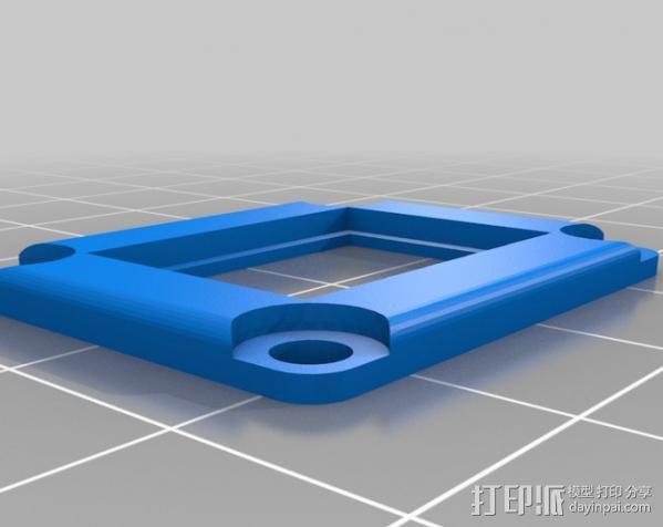 LED聚光灯 支架 3D模型  图6