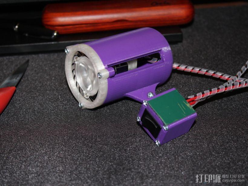 LED聚光灯 支架 3D模型  图12