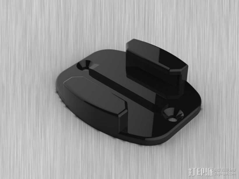 GoPro相机 扁平底座 3D模型  图2