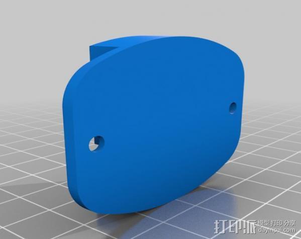 GoPro相机 扁平底座 3D模型  图1