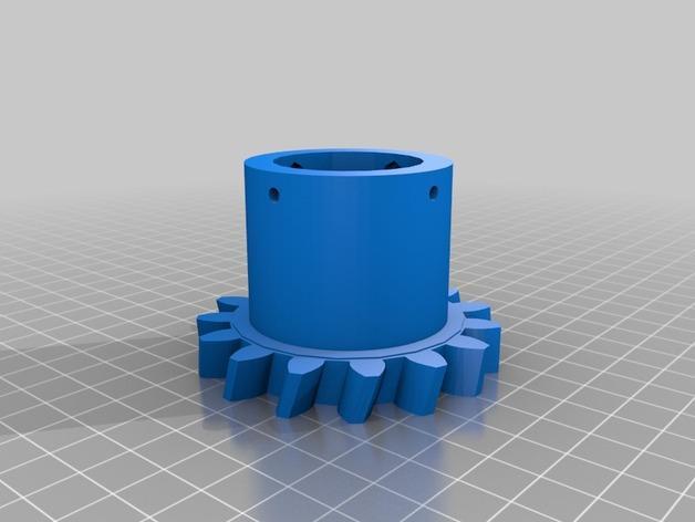 """InMoov""机器人的肩膀 3D模型  图2"