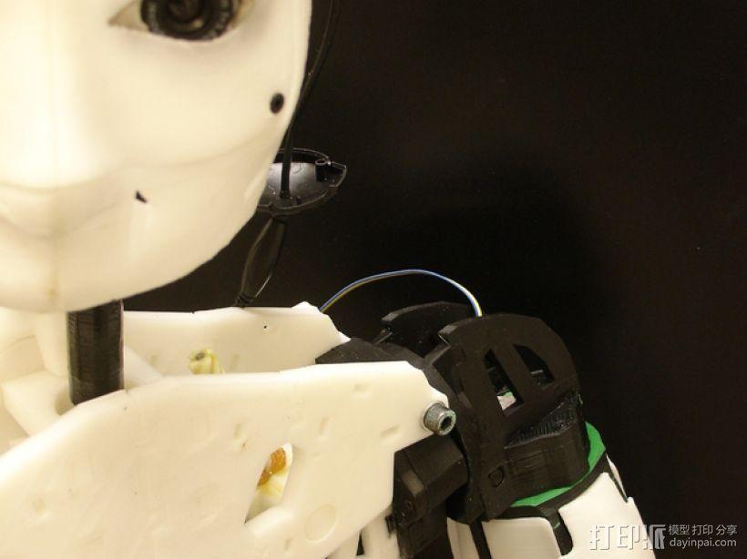 """InMoov""机器人的肩膀 3D模型  图1"