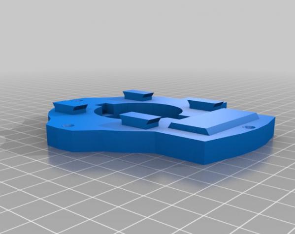 """InMoov""机器人的肩膀 3D模型  图18"