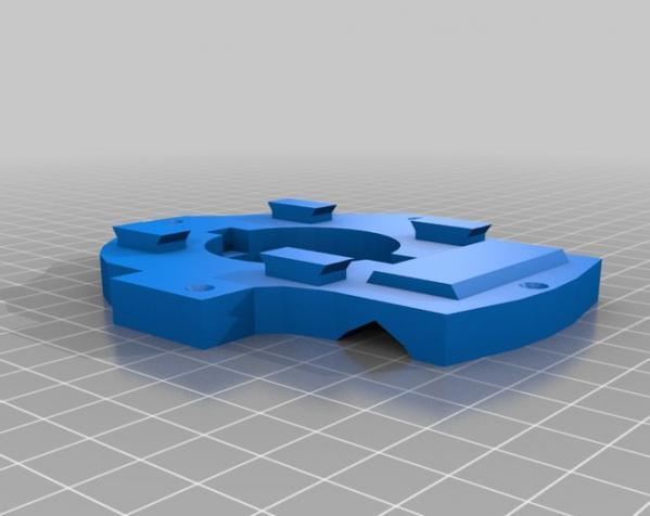 """InMoov""机器人的肩膀 3D模型  图21"