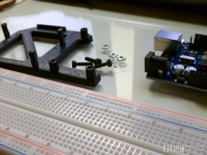 Arduino Uno电路板支架 3D模型  图3
