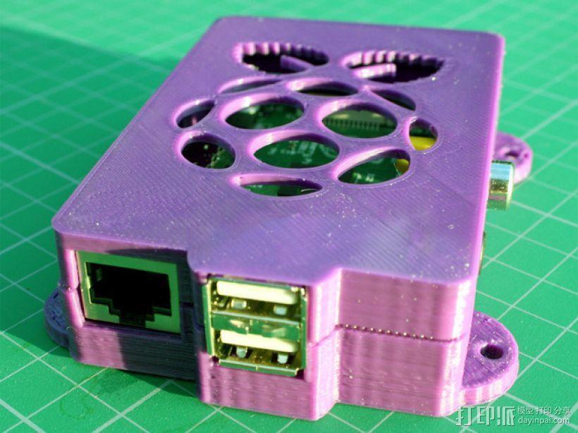 Super-Pi树莓派外壳  3D模型  图2
