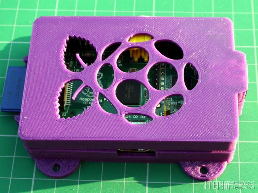 Super-Pi树莓派外壳  3D模型  图3