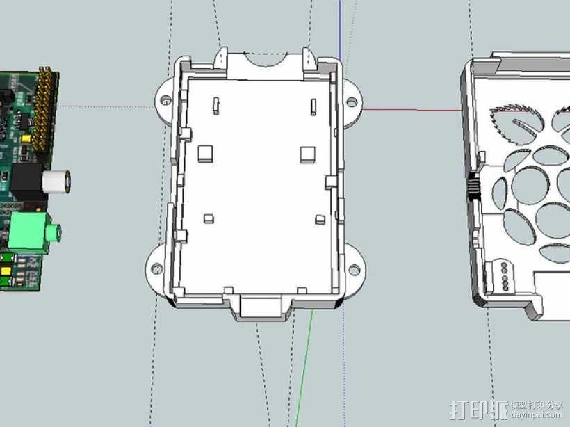 Super-Pi树莓派外壳  3D模型  图5