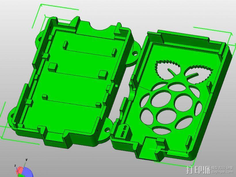 Super-Pi树莓派外壳  3D模型  图6