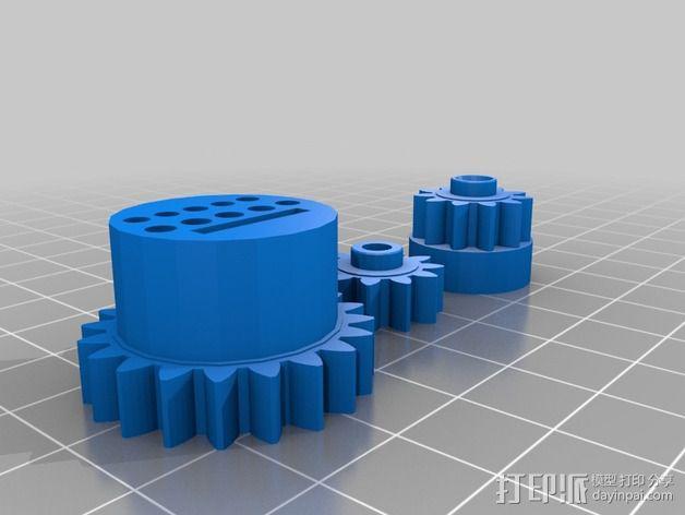 InMoov机械手 手腕 3D模型  图6