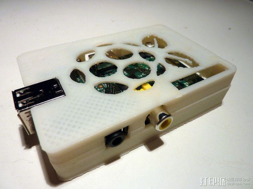 树莓派保护壳 3D模型  图1