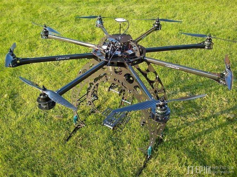 八轴飞行器 3D模型  图1