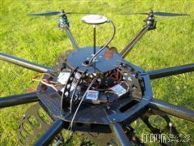八轴飞行器 3D模型  图2