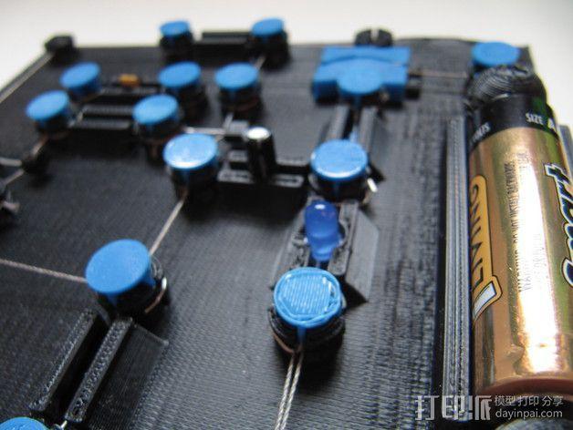 3D打印的电路板 3D模型  图2
