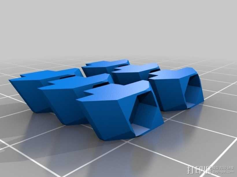T形槽螺母  3D模型  图1