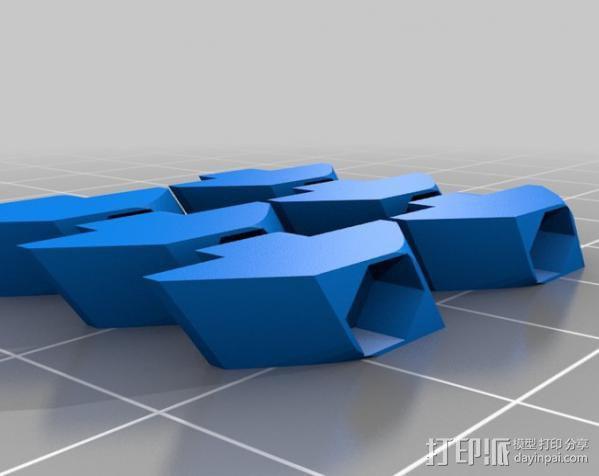 T形槽螺母  3D模型  图2