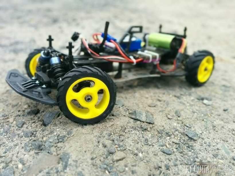 低速越野遥控赛车轮子和轮胎 3D模型  图1