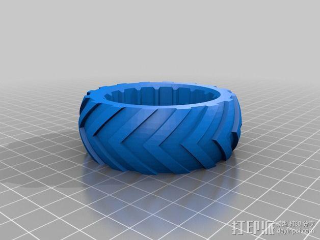 低速越野遥控赛车轮子和轮胎 3D模型  图3