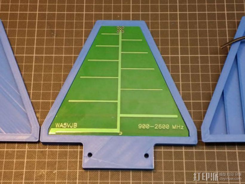 PCB LPDA天线 天线罩  3D模型  图1