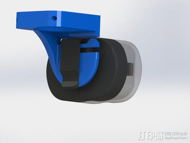 自行车灯固定夹 3D模型  图2
