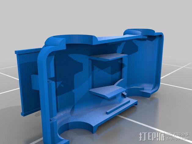 插槽车车身 3D模型  图2