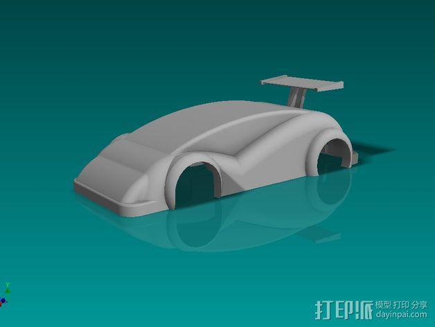 插槽车车身 3D模型  图1