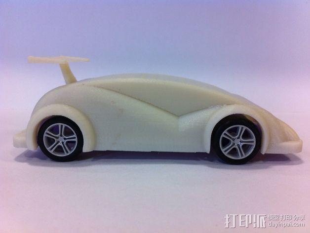 插槽车车身 3D模型  图3
