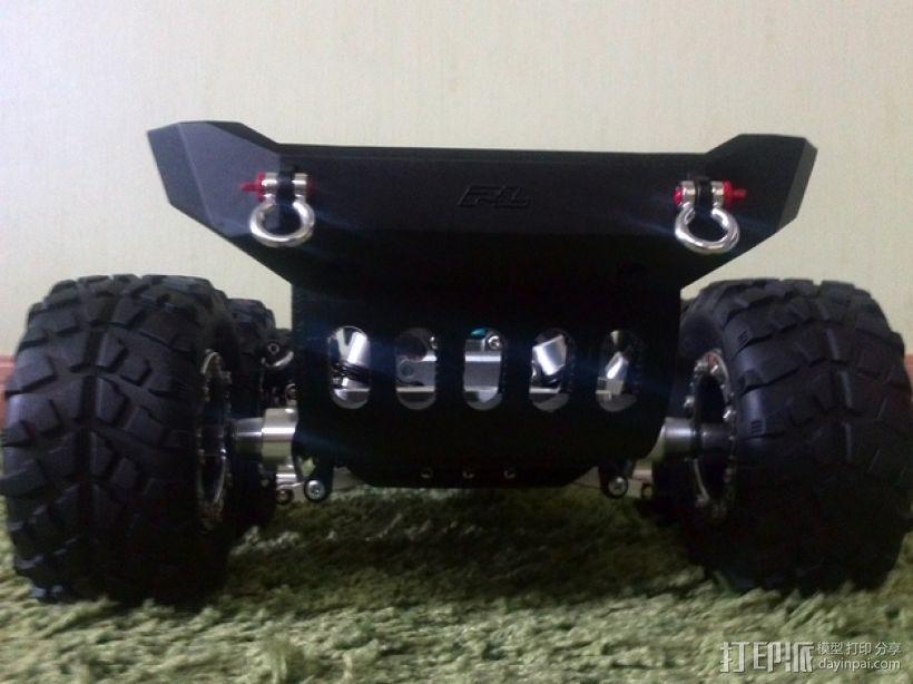 Tamiya TT-01遥控赛车 保险杠适配器 3D模型  图1