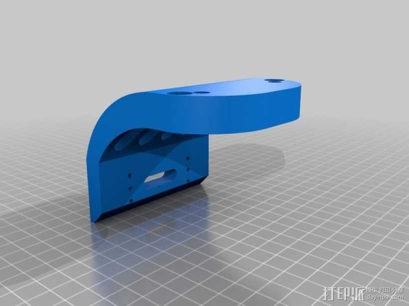 Tamiya TT-01遥控赛车 保险杠适配器 3D模型  图2