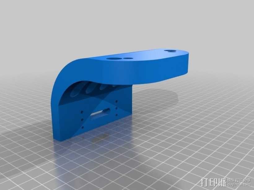 Tamiya TT-01遥控赛车 保险杠适配器 3D模型  图3