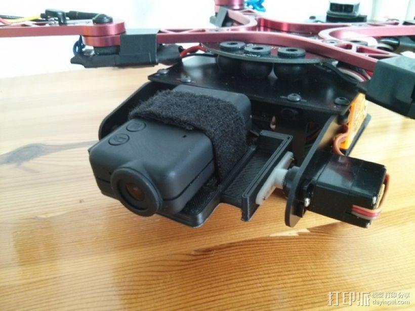 四轴飞行器 Mobius相机常平架 3D模型  图1