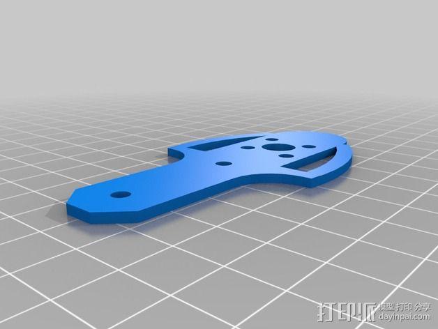 四轴飞行器电机支架  3D模型  图2