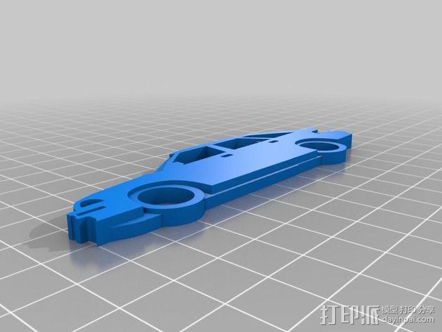 本田汽车 钥匙扣 3D模型  图2
