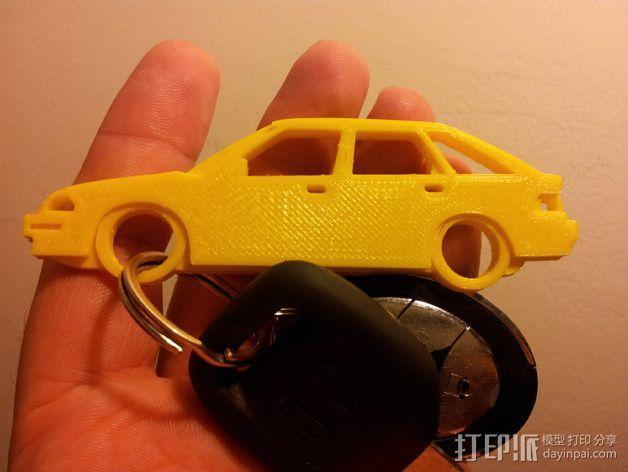 本田汽车 钥匙扣 3D模型  图1