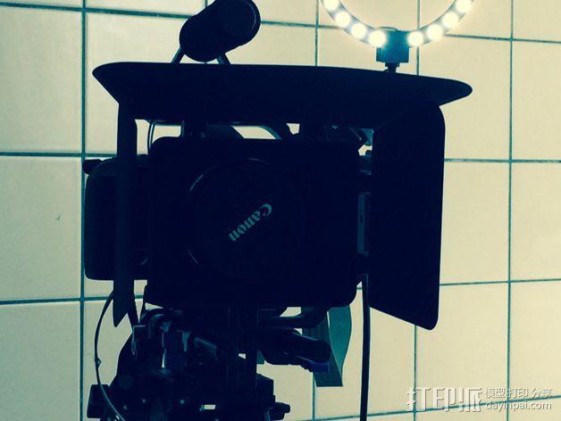 相机LED环形灯 3D模型  图1