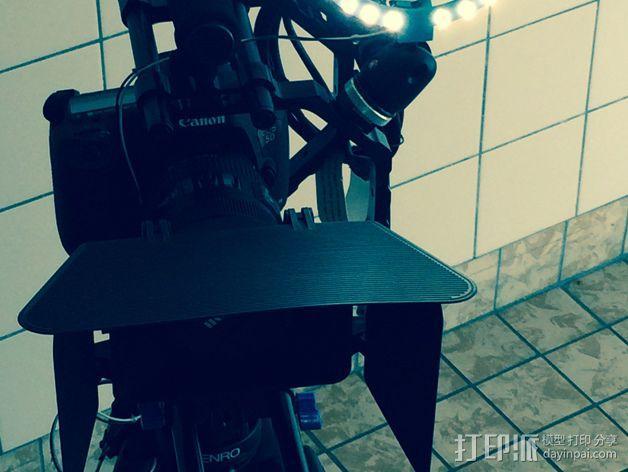 相机LED环形灯 3D模型  图3