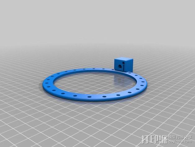 相机LED环形灯 3D模型  图2
