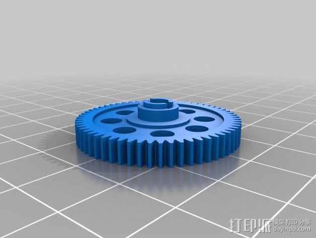遥控赛车正齿轮 3D模型  图2