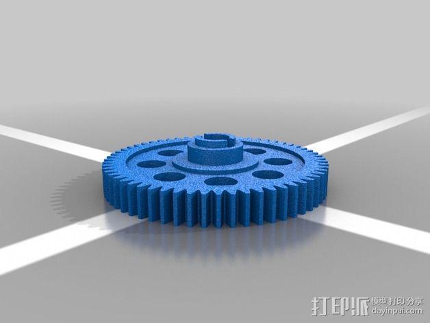 遥控赛车正齿轮 3D模型  图3
