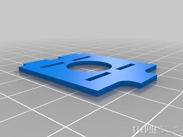 TBS Discovery多轴航拍器 相机面板 3D模型  图2