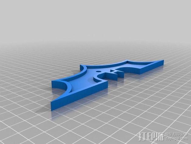 蝙蝠侠牌照 装饰品 3D模型  图2